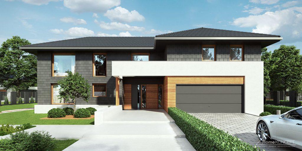 Dom z garażem dwustanowiskowym - HomeKONCEPT 40