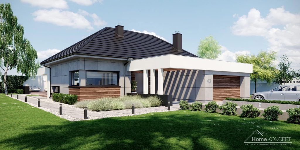 Projekt domu jednorodzinnego - HomeKONCEPT 43