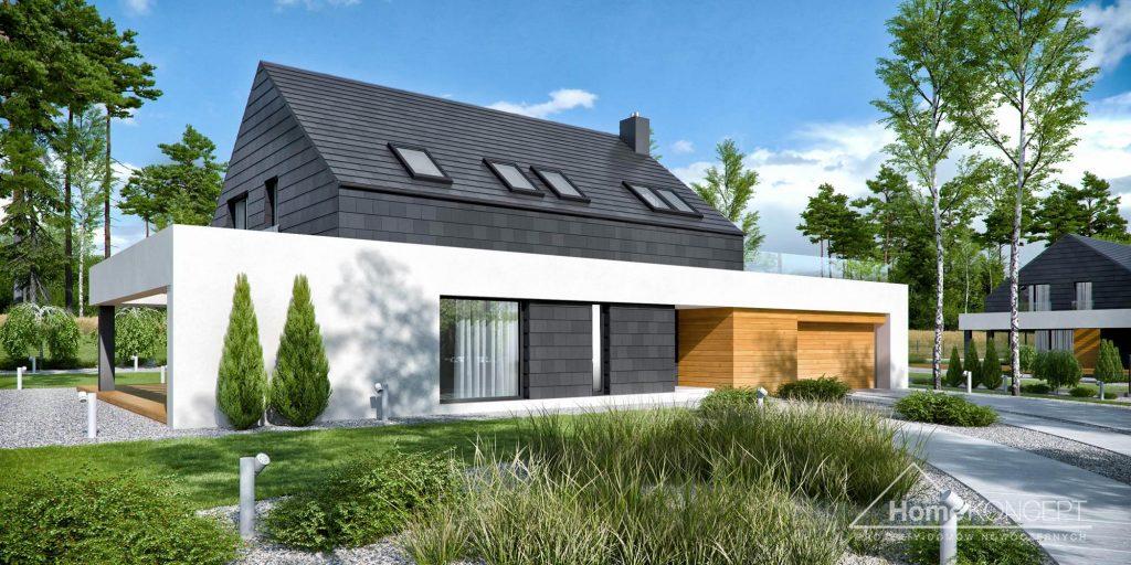 Dom parterowy z dachem dwuspadowym HomeKONCEPT 50