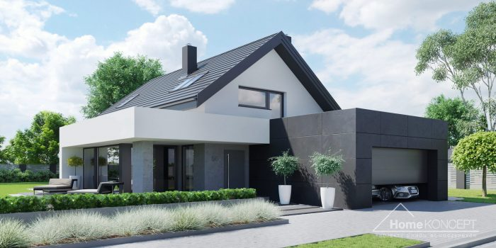 Projekt Domu nowoczesnego HomeKONCEPT 56