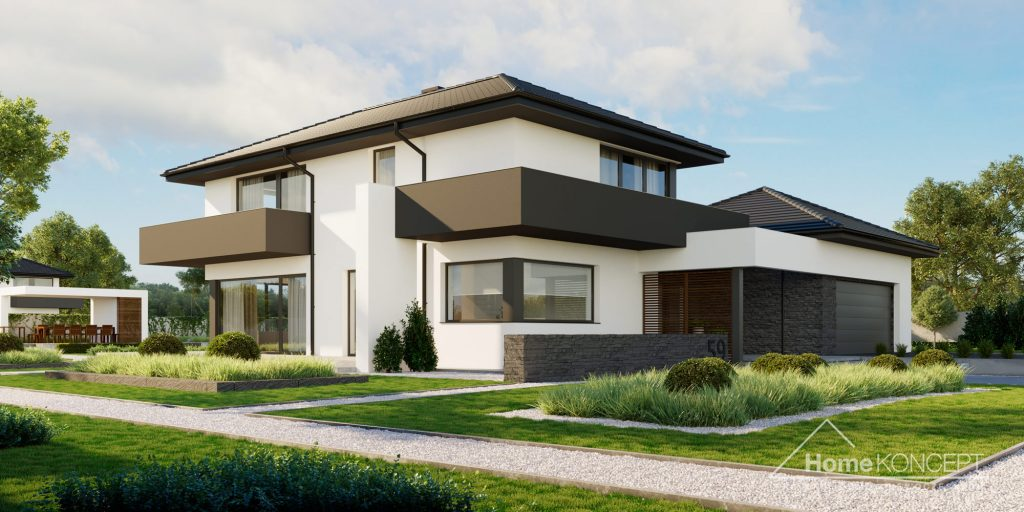 Duży dom parterowy - HomeKONCEPT 59