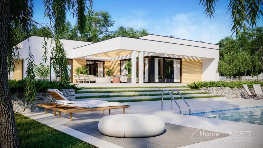 Dom z płaskim dachem - HomeKONCEPT 73