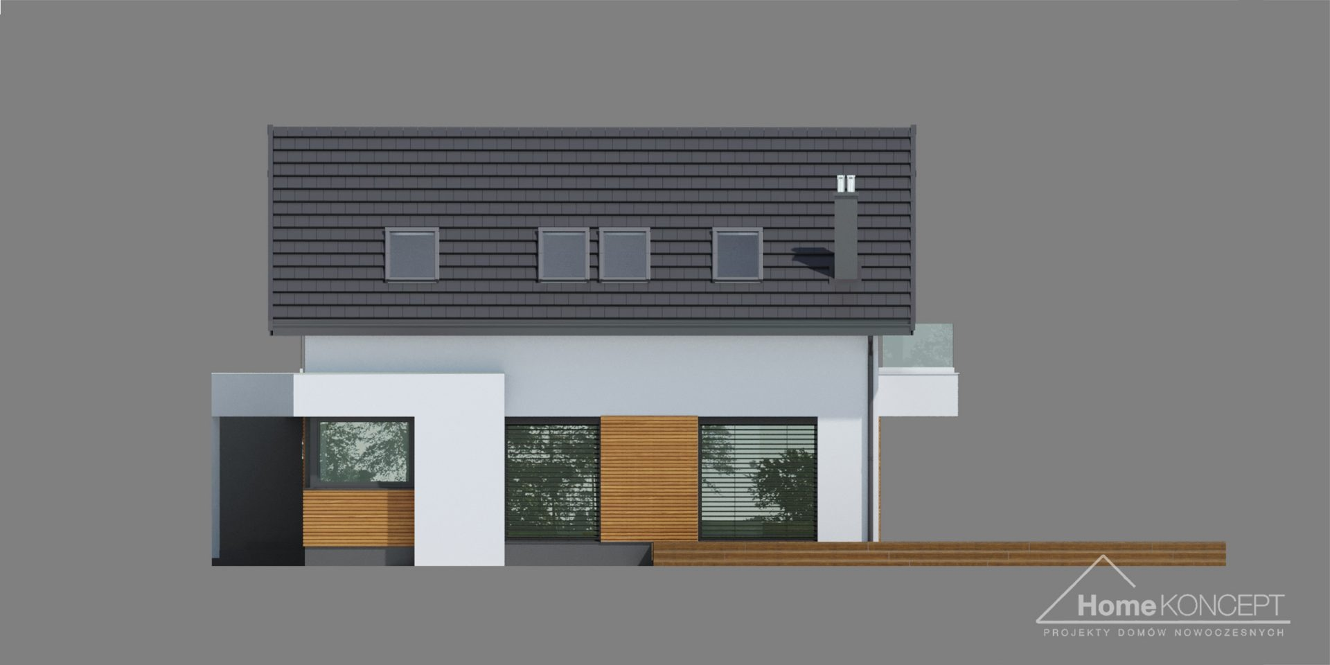 HomeKONCEPT 72 projekt domu nowoczesnego
