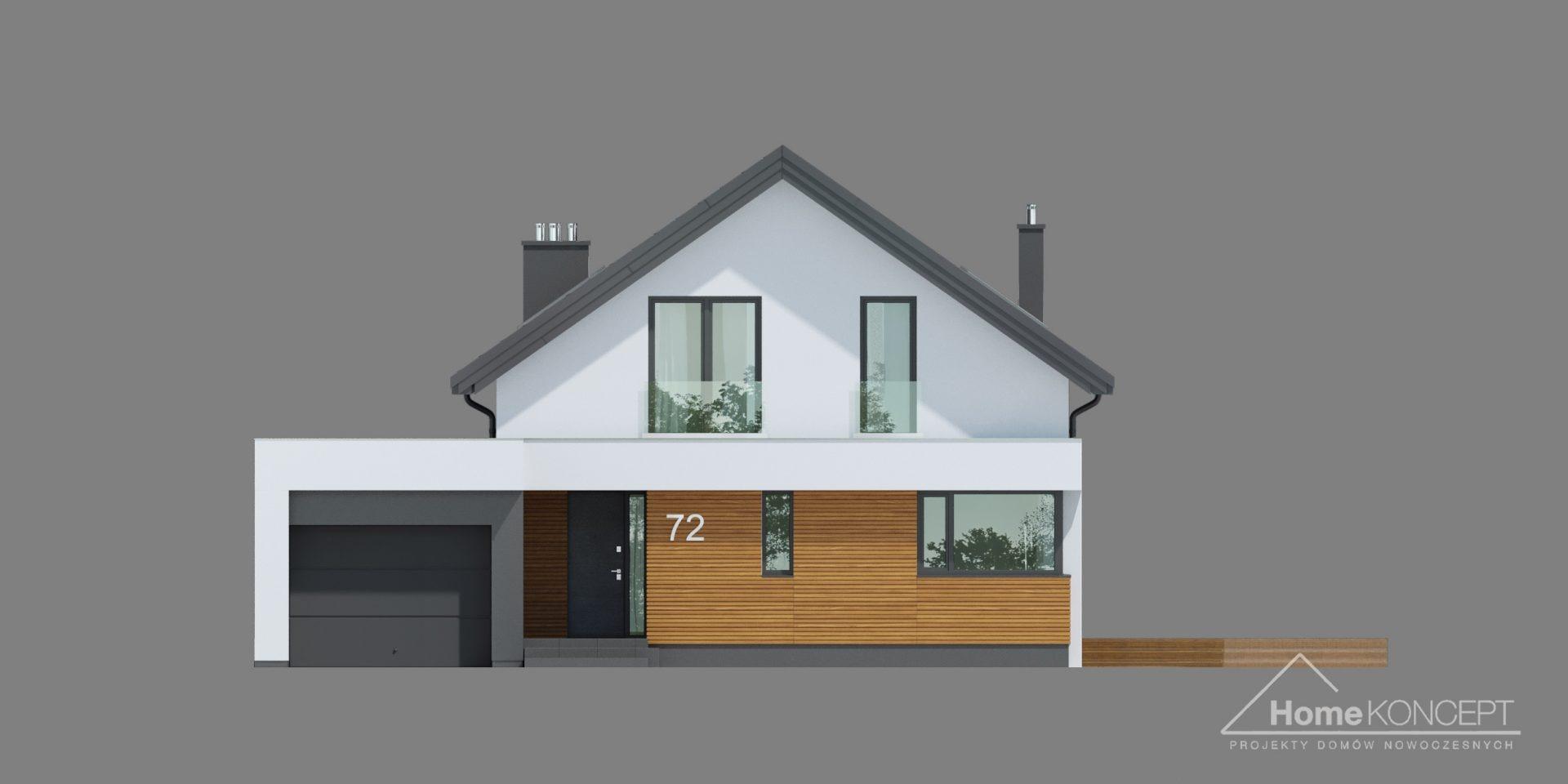 HomeKONCEPT 72 projekt domu z poddaszem użytkowym