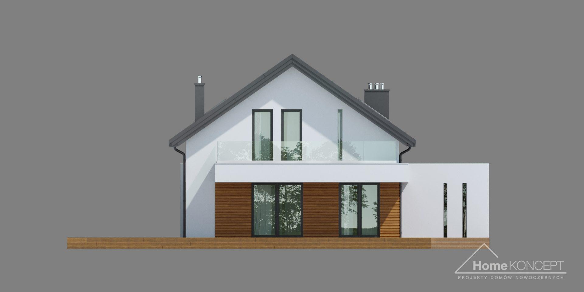 HomeKONCEPT 72 projekt domu z dachem dwuspadowym