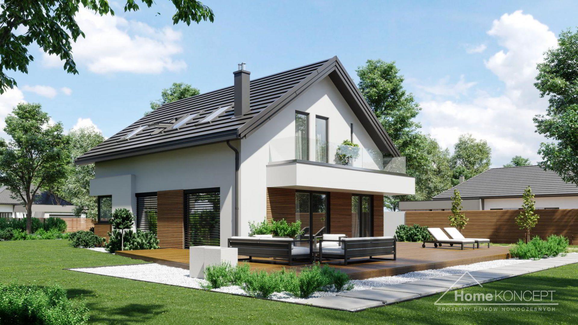 HomeKONCEPT 72 projekt domu energooszcczędnego